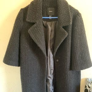 💞💞 Black Long FOREVER 21 coat